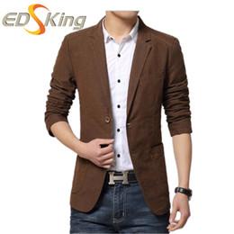 Wholesale Trajes Hombre Fashion - Wholesale- Autumn Winter Men Fashion Suit Jackets Blazers Casual Turn-Down Collar Mens Style Blazer Slim Fit Trajes De Hombres De Vestir