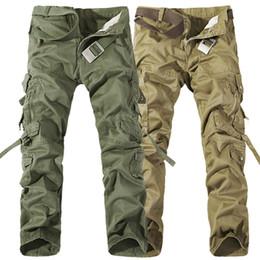 Wholesale Military Combat Trousers - 2017 Worker Pants CHRISTMAS NEW MENS CASUAL MILITARY ARMY CARGO CAMO COMBAT WORK PANTS TROUSERS 6 COLORS SIZE 28-38
