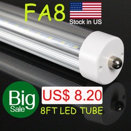 Wholesale Single Led Price - Big sale! stock in US single pin FA8 T8 LED Tube 45W AC85-305V 2.4m t8 led 8 inch led tube 8ft fluorescent tubes repacement bulbs good price