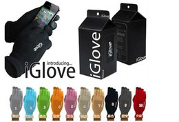 Wholesale Pent Men - Men Brand IGlove Touched Screen Gloves High elasticity good quality Unisex Mittens for Iphone smart Winter Women gloves 9 colors