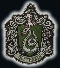 "Wholesale Harry Potter Crests - 4.5"" HARRY POTTER LARGE ""Salazar Slytherin"" Crest Emblem Embroidered Iron On Patch 11.5cm x 9.5cm retro applique wholesale"