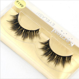 Wholesale Colorful Beauty - Full Strip Mink False Eyelashes 1-1.5cm Hand Made Synthetic Hair Lashes Thick Fake Faux False Eyelashes Extensions for Makeup Beauty