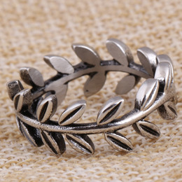 Wholesale Wedding Brand Names - 2017 Sale leaves Anillos 2017 retro Stainless Steel Rings For Woman Brand Name Jewelry Thailand rings rings fit Pandora Charm