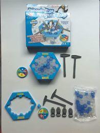 Wholesale Mini Plastic Penguin - Interactive Mini Ice Breaking Table Penguin Trap Children Funny Game Penguin Trap Activate Entertainment Toy Family Fun Game with Box
