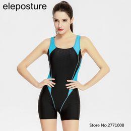 Wholesale Bodybuilding Bikini - 2017 Professional Swimsuit Women One Piece Swimwear Sports Bodybuilding Swim Wear Training Swimsuit Sharkskin Print Bathing Suit