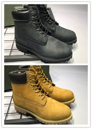 Wholesale Denim Canvas High Heel - 2017 Hot Sale Men Women Timber Genuine Leather Waterproof boots Outdoor Fashion High Quality Martin boots Work boots Size 36-46