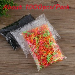Wholesale Tie Packing Clip - 1000Pcs pack Rubber Rope Ponytail Hair Elastic Holders Rubber Band Ties Braids Plaits headband hair clips Hair Accessories