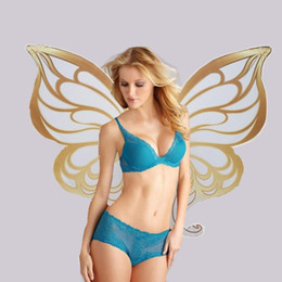 Wholesale Adult Cosplay Models - Adults large size Butterfly Angel wings sexy Cosplay custome Model stage performance big props photography supplies 125cm EMS free shipping