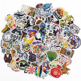 Wholesale Cool Funny - 108 Pcs Fixed Unique Graffiti Creative Car Stickers For Skateboard Laptop Luggage Cool Retro Styling Decals Funny Doodle DIY Sticker