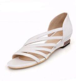 Wholesale Roman Wedge Sandals Fashion - Roman low wedge heel casual dress summer shoes sandals for women Fashion 2016 New Shoes Big size 34-43 Women's Sandals