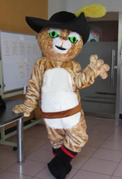 Wholesale Mascot Puss Boots - High quality Puss in boots mascot costume adult size Puss in boots mascot costume free shipping