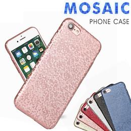 Wholesale Rose Gold Mosaic - Mosaic Lines Carbon Fiber Lattice Anti-fingerprint For iPhone X 8G 7plus S8 case Stylish PC Phone Case 3D Laser Carving Grid pattern