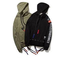 Wholesale Teens Hoodies - 17SS Hip Hop Streetwear Men's Loose Hooded Teen Jackets Hoodies Autumn Winter Fashion Pullover Sport Hoodie Jacket