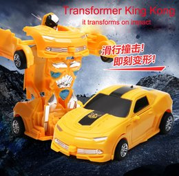 Wholesale Transformer Toy Wholesale - IN STOCK impact-transformer vehicle toy automatic transformation robot toys birthday gifts christmas present with fast free shipping