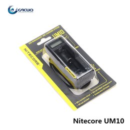 Wholesale Multi Charger Lcd - Authentic Nitecore UM10 Intelligent Multi Functional Battery Charger with LCD Display 100% Original Vape Charger Fast Charging