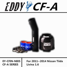 Wholesale Nissan Carbon - For Nissan Tiida Livina 1.6 CF-A High Performance Carbon Fiber Cold Air Intake System Air Filter Air Intake Kit