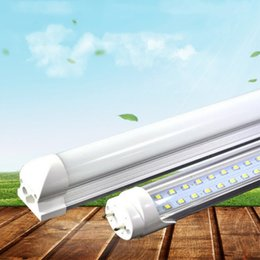 Wholesale Nature Accessories - T8 Integrated Double row led tube 4ft 28w 8ft 65w 72w SMD2835 led Lighting Bulb 4 foot 8 foot led lighting fluorescent lamp with accessories