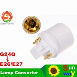 2019 science pack 4 Pins G24Q Stecker auf E26 Buchse GX24Q-1 GX24Q-2 GX24Q-3 4 Pins GX24 auf E27 Adapter GX24 zu E26 Lampenhalter Konverter