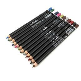 Wholesale Easy N - M N 12 color eyeliner lip liner eyeliner pencils new eyeliners styles Multifunction liner rapidblack pencils Cosmetic DHL shipping