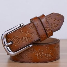 Wholesale Waist Belts For Dresses - Wholesale- 2016 New Designers Luxury Female Strap Waist Brand Genuine Leather Dress Belts for Women Wedding Cowskin for Jeans Pants Brown