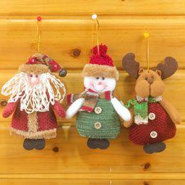 Wholesale Christmas Tree Gadget - Christmas Hanging Dolls Santa Claus Snowman Dolls Decorations Xmas Tree Gadgets Ornaments Doll Christmas Gift