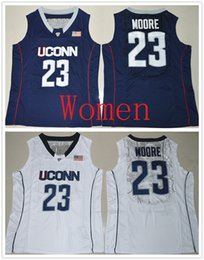 Wholesale Basketball Number 23 - Personalized Women Uconn Huskies #23 Maya Moore Navy blue & white Basketball Jerseys Stitched Ladies Size S-2XL Custom Any Name Any Number