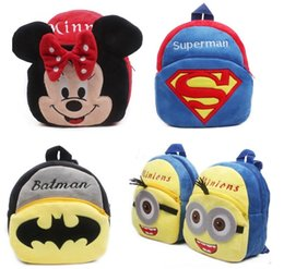 Wholesale red baby toys - Hot Plush Cartoon Kid School Backpack toy For Child Schoolbag For Kindergarten Baby Mochila Infantil Student School kid Backpack