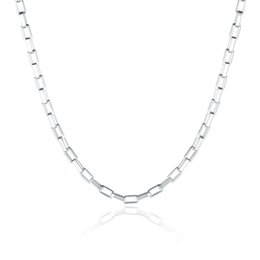 """Wholesale Grid 16 - Top Quality 925 Sterling Silver 2MM Grid Chain Men's Necklace 16"""" 18"""" 20"""" 22"""" 24"""" Fit All Pendant Necklaces"""