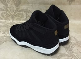 Wholesale Children Shoes Sale - Black gold Retros 11s baby small kids basketball shoes for sale 11 Infant Sports sneaker boy and girl children athletic sneaker SIZE 28-35
