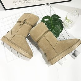 Wholesale Used Heels - Winter woman snow boots Thickened soft bottom zipper design half and ankle boots Dual-use Anti-skid warm shoes for ladies