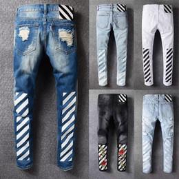 Wholesale Footing Design - 2018 famous brand fashion design cool vintage superior quality men's jeans cool men's jeans fashion slim feet
