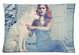 Wholesale Faith Case - 2pcs Custom Paloma Faith White Dog Pattern Zippered Cotton Polyester Pillow Case 20x30 (Twin sides)