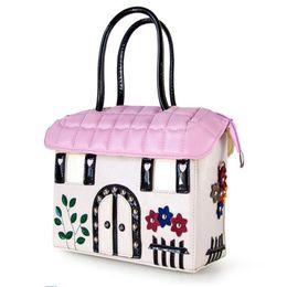 Wholesale Genuine Leather Shoulderbag - 2017 Genuine Leather printing women bag Italy shoulderbag Handbag Retro Handmade Bolsa Feminina Braccialini Ladie mexico bag pink