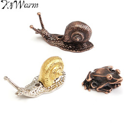 Wholesale Red Burner - Wholesale- 1Pcs Red Copper Alloy Animal Toad Snail Incense Burner Holder for Incense Sticks Handmade Craft Ornament DIY Home Decoration