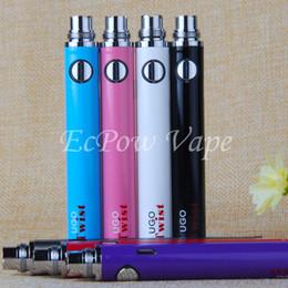 Wholesale ecig vv - 510 UGO Twist Vaporizer EVOD eGo Variable Voltage VV Vape Battery UGO-Twist 650mah 900mah eCig Pen Come With USB Charger By ePacket