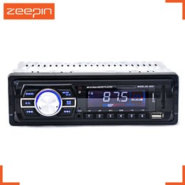 Wholesale Led Car Watch - Wholesale- 2033 Car Audio Stereo FM Radio 12V USB SD Mp3 Player FM AUX SB LED   LCD Display Remote Control for Vehicl