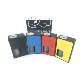 Wholesale Flip Door - S-Rabbit squonk box mod made out of Nylon material with the spring-loaded 510 pin flip style battery access door High Quality DHL free