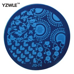 Wholesale nail polish images - Wholesale- YZWLE 1 Sheet Stamping Nail Art Image Plate, 5.6cm Stainless Steel Template Polish Manicure Stencil Tools (JQ-74)