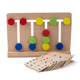 Wholesale Baby Toy Montessori Four Colors Game Color Matching for Early Childhood Education Preschool Training Learning Toys Size Color Multicol