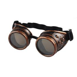 2019 saldatura occhiali occhiali Occhiali all'ingrosso punk caldi di vendita di Steampunk degli occhiali di protezione di stile di vendite calde all'ingrosso di Cosplay Commerci all'ingrosso liberi di trasporto sconti saldatura occhiali occhiali