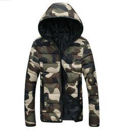 Wholesale New Fashion Camouflage Clothing - Wholesale- Winter Jacket Men Camouflage Couple Parka Men Coat 2017 New Brand Clothing Men Winter Jacket Zipper Doudoune Homme Hiver Marque