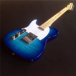 Wholesale Left Handed Chinese Guitars - Hot sale Chinese Left handed TL Style Best Tiger striprd Electric Guitar, Custom Available Electric guitar free shipping