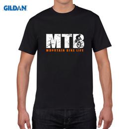 Wholesale T Shirt 3d Mountains - New fashion men Hip Hop 3d Print Mountain Biker - Vintage MTB make shirts Short Sleeve Men T-shirt Tops Summer T shirt