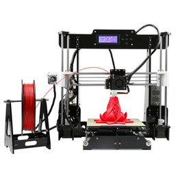 Wholesale Commercial Color Printers - New Upgrade desktop 3D Printer Prusa i5 Size 220*220*240 mm Acrylic Frame LCD 2.5Kg Filament & 16G TF Card for gift (big main board)