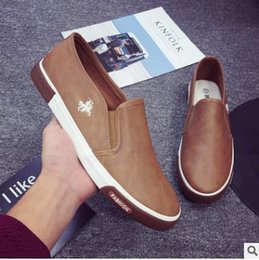 Wholesale Mens Casual Shoes Low Price - 2017 New arrival Low price Mens Breathable High Quality Casual Shoes PU Leather Casual Shoes Slip On men Fashion Flats Loafer