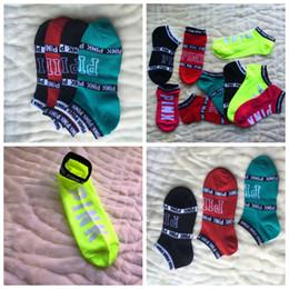 Wholesale Unisex Yoga Shorts - love vs Pink Socks Fashion Women Sports Socks Victoria short Sports socks secrets boat ankle sock 30 Pairs free shipping