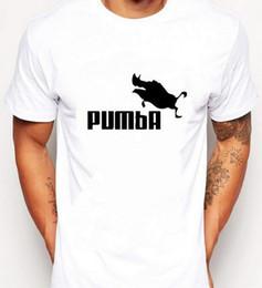 Wholesale Boy Tees - 2017 new brand PUMBA t-shirt cotton tops tees men short sleeve boy casual homme tshirt t shirt plus fashion