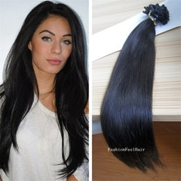 "Wholesale Chinese Hair Ordering - 300S 18""-28"" Remy Nail-tip U-tip Human straight Hair Extensions, hair extension #6,1g stand,mix order available"