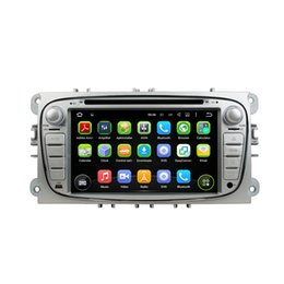 Wholesale Dvd For Ford Focus - Fit for Ford Focus 2008-2010 BLACK SILVER TWO COLOR Android 5.1.1 OS 1024*600 HD car dvd player gps radio 3G wifi bluetooth dvr free map