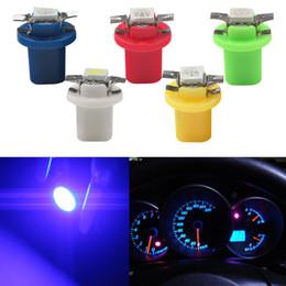 2019 синяя ламповая база Клин базовые лампы 5050 номерного знака свет SMD 5 цветов 100шт Т5 В8.5 автомобилей-стайлинг светодиодные лампы приборной панели дешево синяя ламповая база